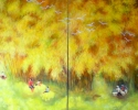 Countryside. 114x204 cm. Lacquer