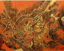 The course of life, 140x160 cm, Lacquer on board