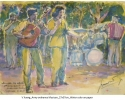 Army ordnance Musican.27x37cm.Water color.Year 1973